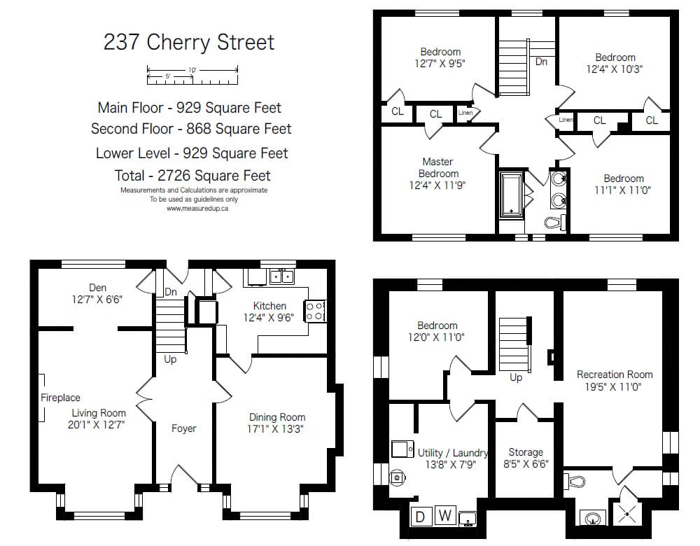 Burlington measuring floor plan