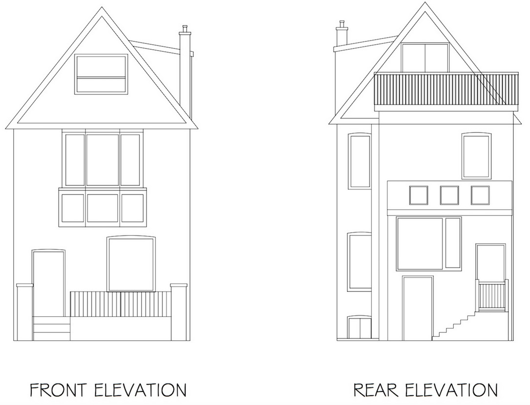 Floor Plans Front Rear Elevations