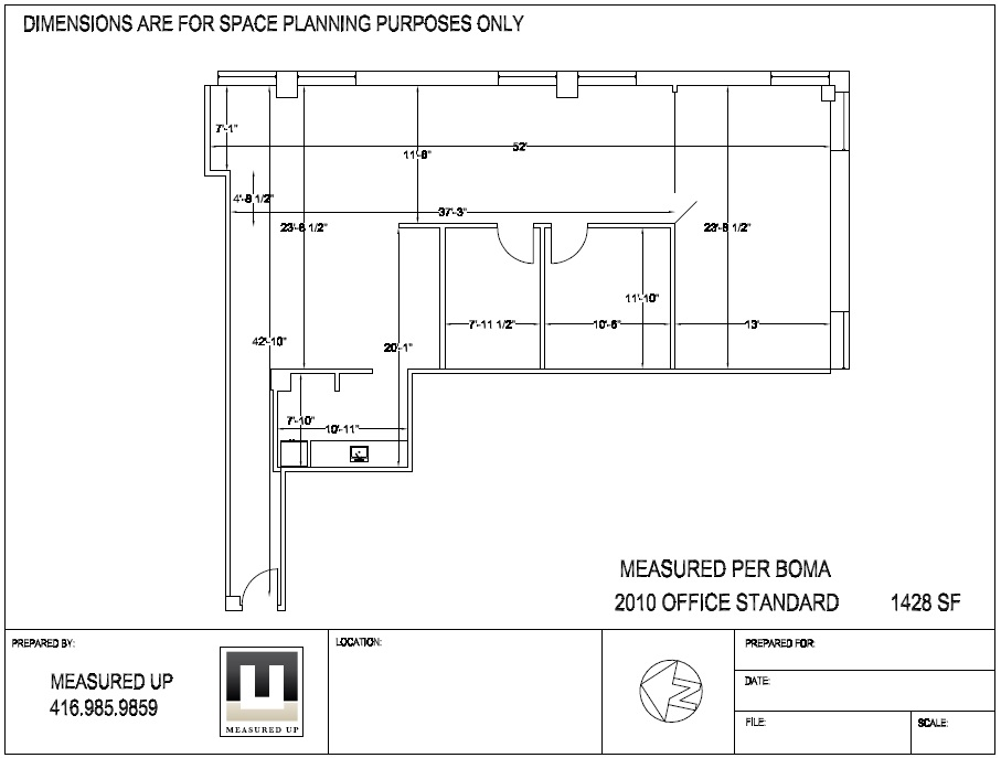 Space Planning Measurements