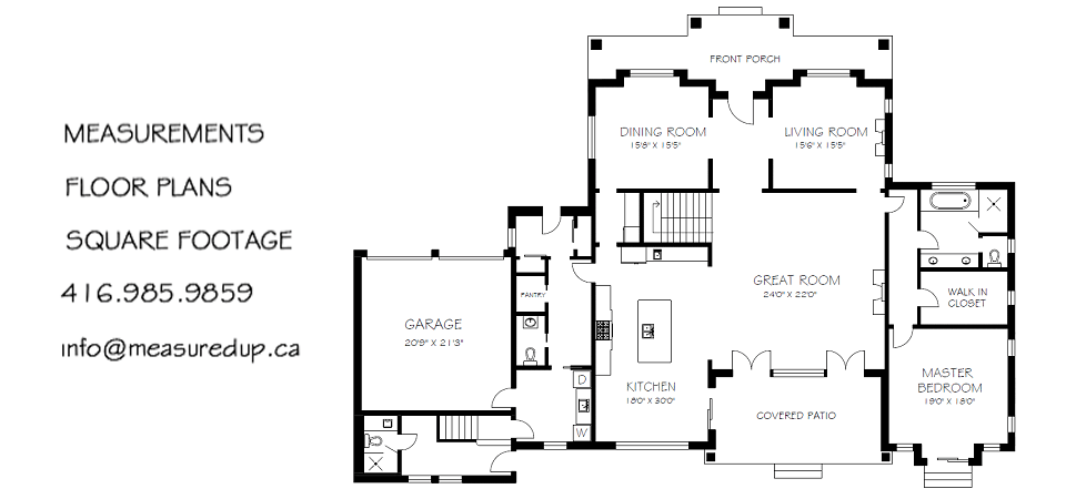 Floor plan measurements gurus floor Real estate house plans